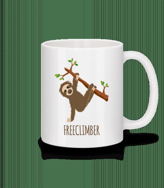 freeclimber Sloth - Keramický hrnek - Bílá - Napřed