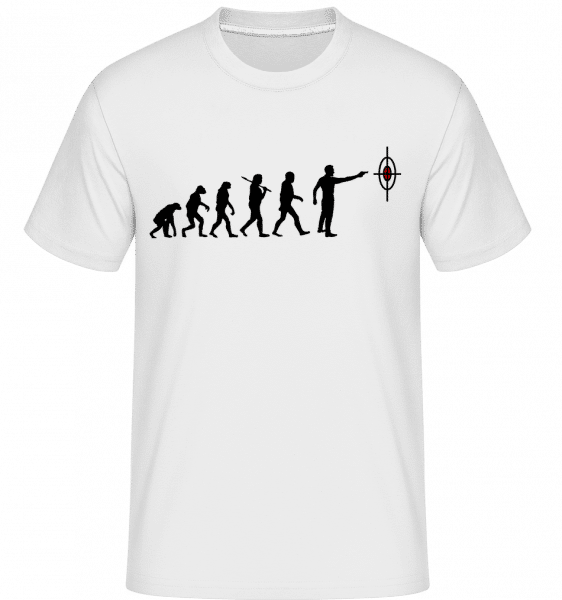 Evolution Of Shooting -  Shirtinator Men's T-Shirt - White - Vorn