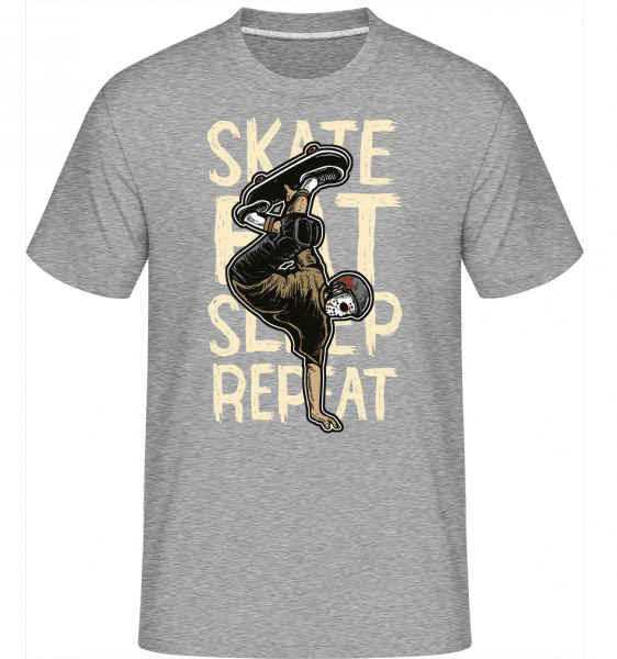 Skate Eat Sleep Repeat -  Shirtinator Men's T-Shirt - Heather grey - Vorn