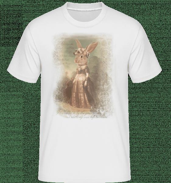 malování Bunny -  Shirtinator tričko pro pány - Bílá - Napřed