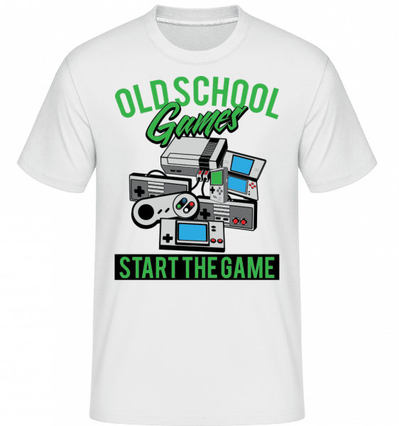 Oldschool Games -  Shirtinator Men's T-Shirt - White - Vorn