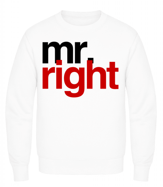 Mr. Right Logo - Men's Sweatshirt AWDis - White - Vorn