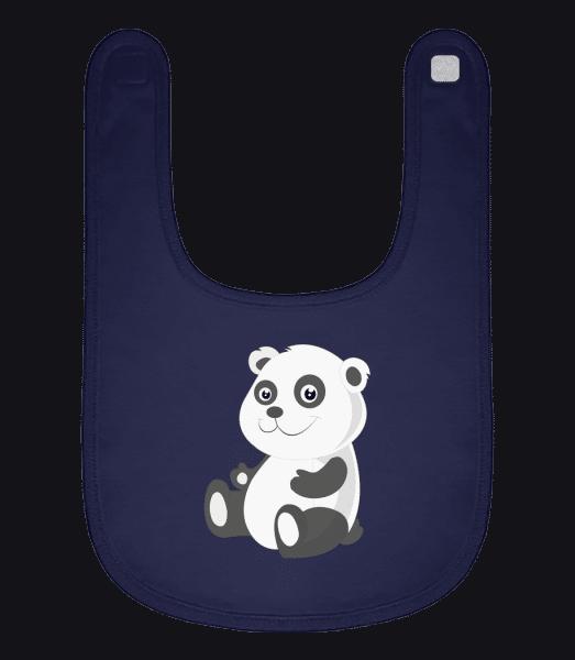 Panda Comic - Baby Bib - Navy - Vorn