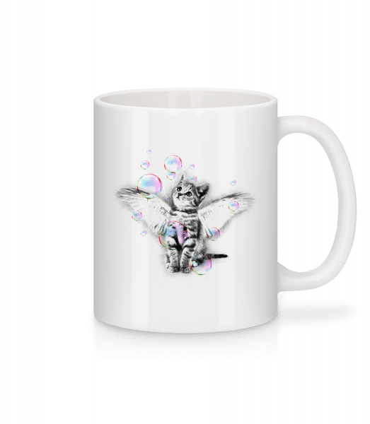 Soapbubble Cat - Mug - White - Vorn