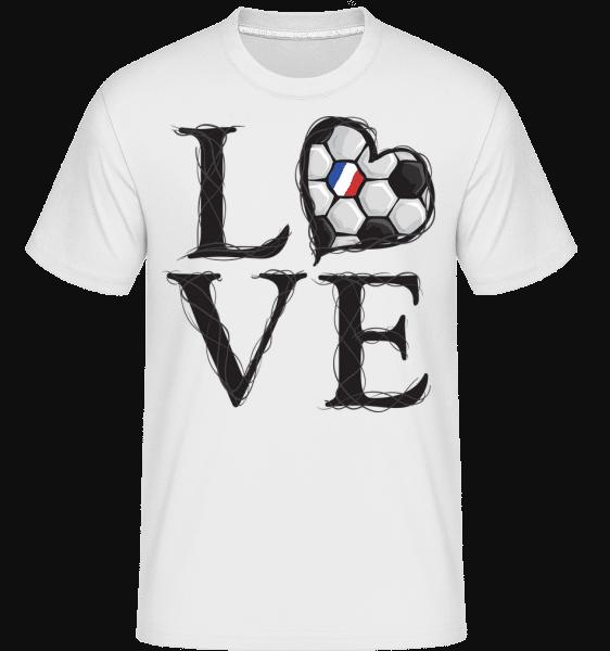 Football Love France -  Shirtinator Men's T-Shirt - White - Vorn