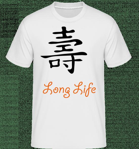 Chinese Sign Long Life -  Shirtinator Men's T-Shirt - White - Vorn
