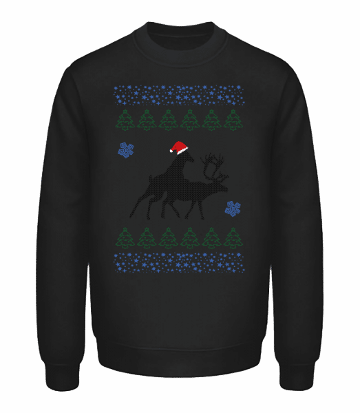 Reindeer Party - Unisex Sweatshirt - Black - Vorn