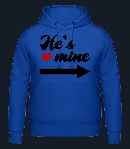 He's Mine - Men's hoodie - Royal blue - Vorn