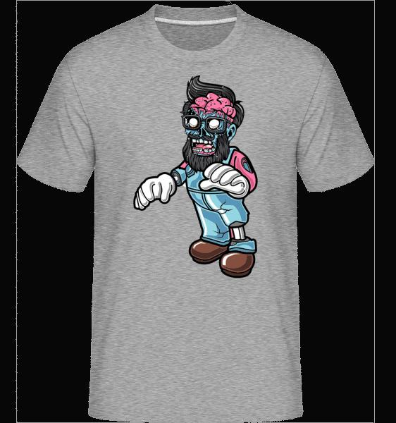 Zombie Beard -  Shirtinator Men's T-Shirt - Heather grey - Front