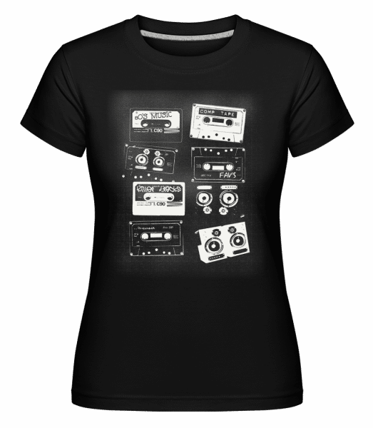 Old Cassettes -  Shirtinator Women's T-Shirt - Black - Vorn