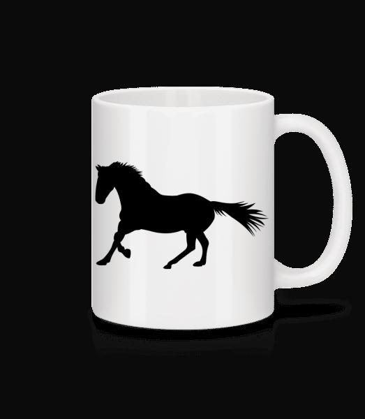 Cheval - Mug en céramique blanc - Blanc - Devant