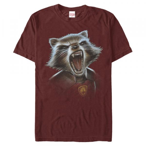 Rocket Blaster - Marvel Guardians of the Galaxy - Men's T-Shirt - Cherry - Front
