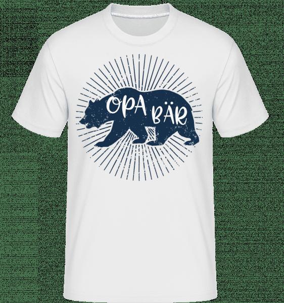 Opa Bär - Shirtinator Männer T-Shirt - Weiß - Vorn