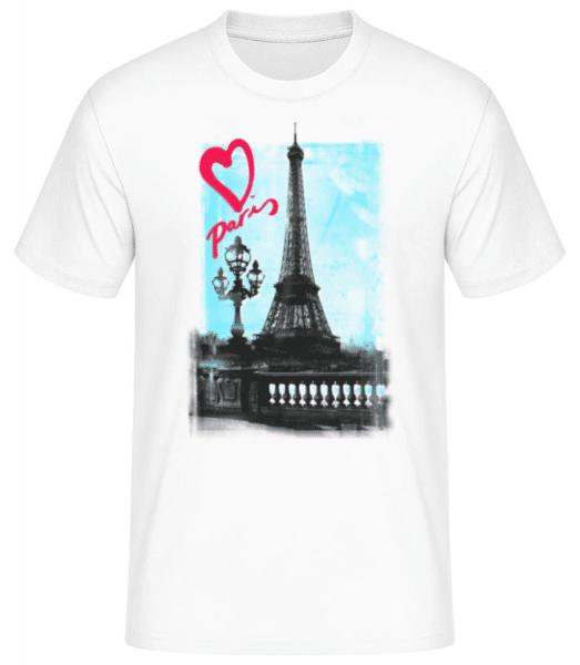Paris love - Men's Basic T-Shirt - White - Front