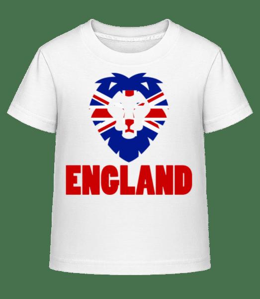 England Bear Flag - Kid's Shirtinator T-Shirt - White - Vorn