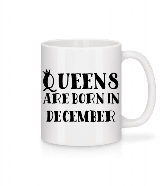 Queens Are Born In December - Mug - White - Vorn