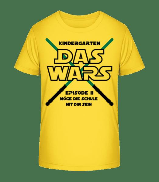 Kindergarten - Das Wars - Kinder Premium Bio T-Shirt - Gelb - Vorn