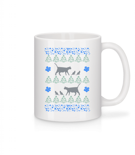 Christmas Cats - Mug - White - Vorn