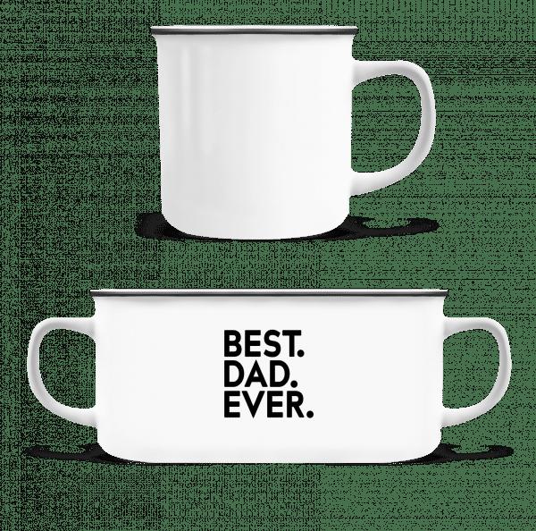 Best Dad Ever - Enamel-cup - White - Vorn