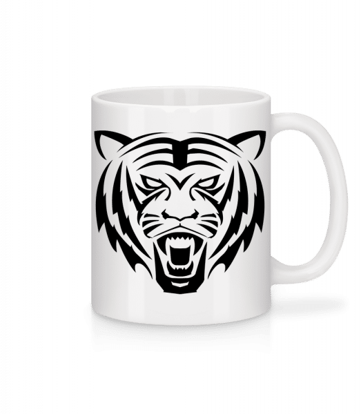 Tiger Head - Mug - White - Front