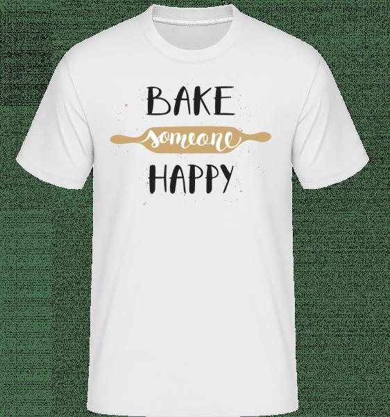 Bake Someone Happy -  Shirtinator Men's T-Shirt - White - Vorn