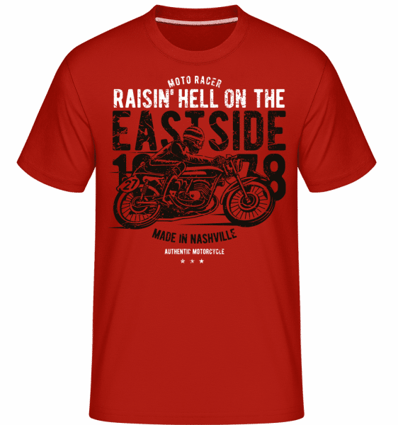 Raisin Hell Moto Racer -  Shirtinator Men's T-Shirt - Red - Vorn