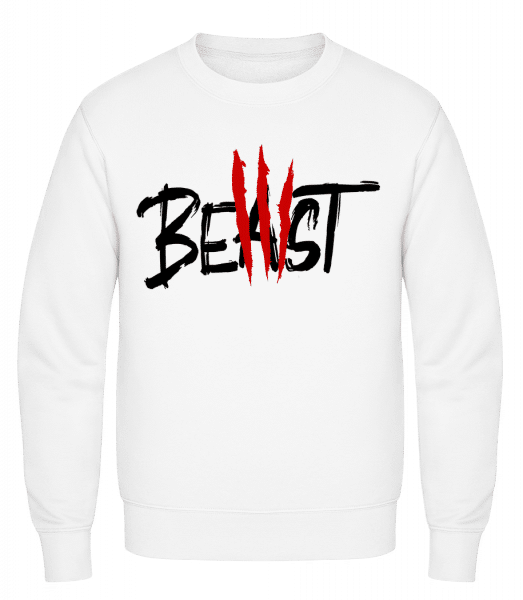 Beast - Classic Set-In Sweatshirt - White - Vorn