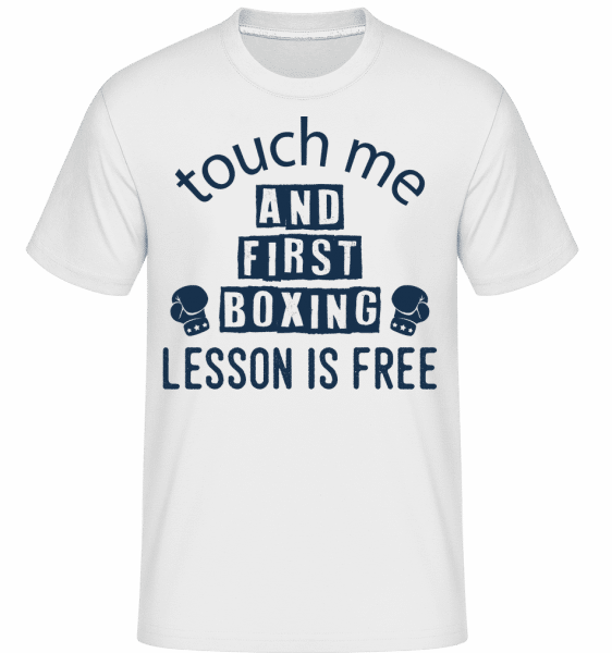 Free Boxing Lessons -  Shirtinator Men's T-Shirt - White - Vorn