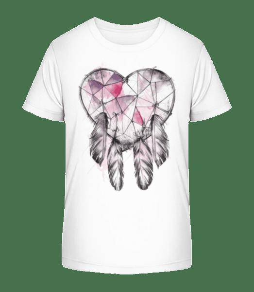Dream Catcher Heart - Kid's Premium Bio T-Shirt - White - Vorn