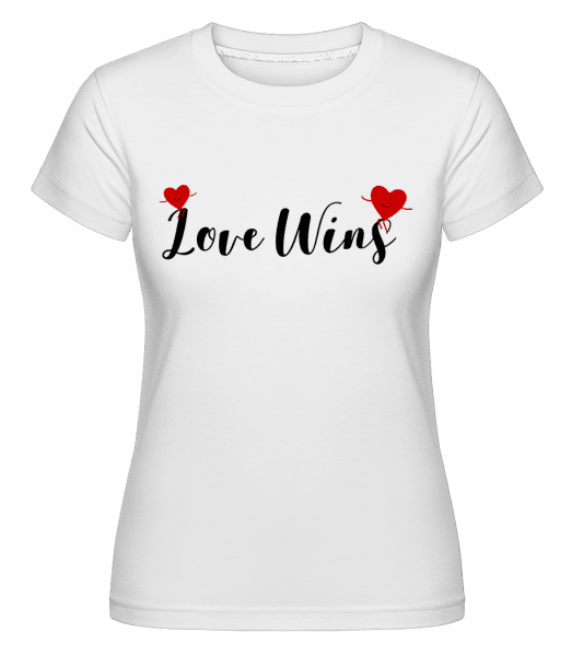 Love Wins -  Shirtinator Women's T-Shirt - White - Vorn