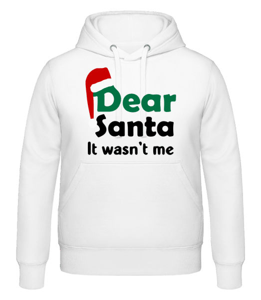 Dear Santa It Wasn't Me - Sweat à capuche - Blanc - Devant