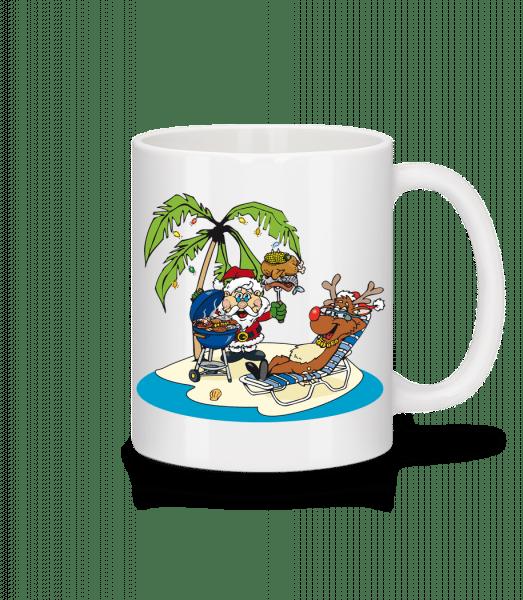 Santa Claus Holiday - Mug - White - Vorn