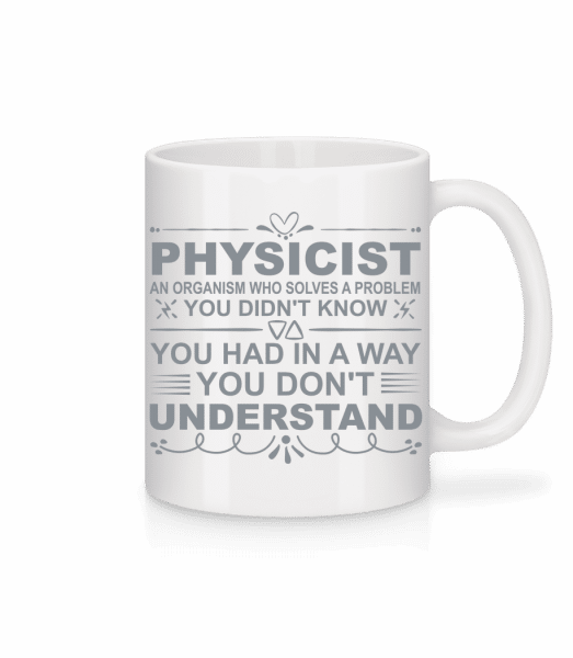 Physicist Solving Problems - Mug - White - Vorn