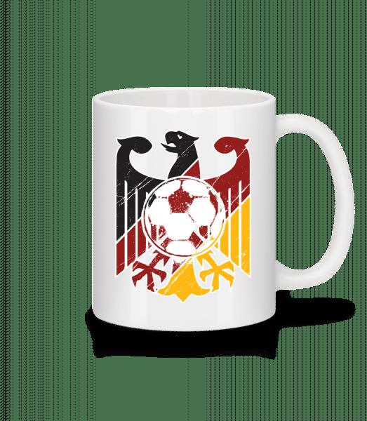 futbal Nemecko - Keramický hrnček - Biela - Predné