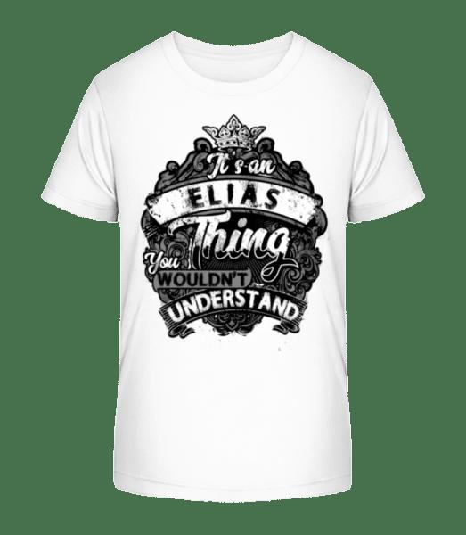 It's A Elias Thing - Kid's Premium Bio T-Shirt - White - Vorn