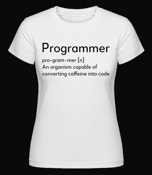 Programmer Definition -  Shirtinator Women's T-Shirt - White - Vorn