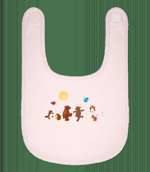 Baby Animal Party - Baby Bib - Pink - Vorn