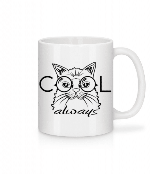 Cool Cat Always - Mug - White - Front