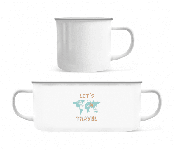 Let Us Travel - Enamel-cup - White - Front