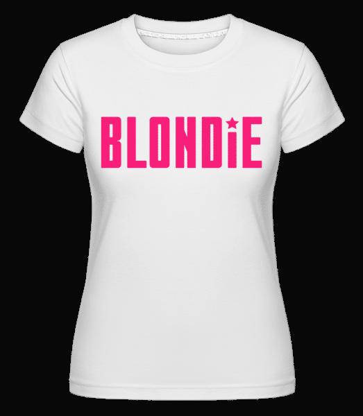 blondýna -  Shirtinator tričko pro dámy - Bílá - Napřed