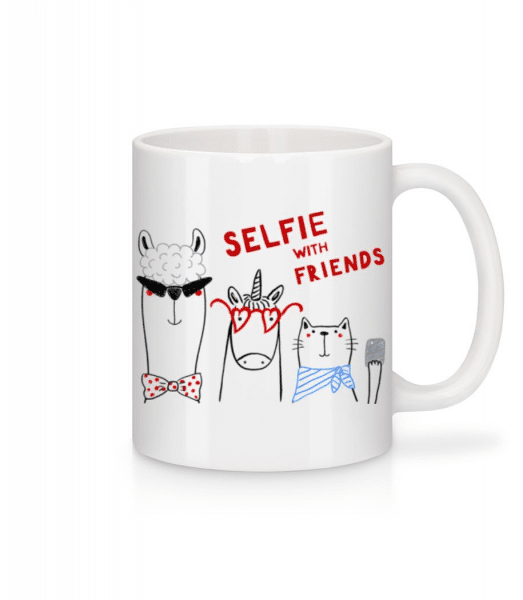 Selfie With Friends - Mug - White - Front