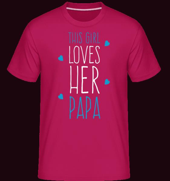 This Girl Loves Her Papa -  Shirtinator Men's T-Shirt - Magenta - Vorn