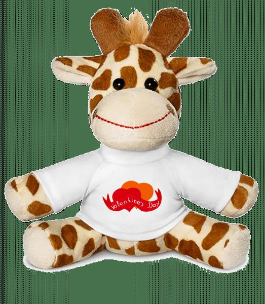 Valentine's Day Logo - Giraffe - White - Vorn