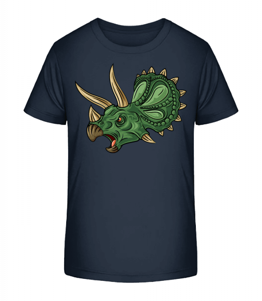 Dinosaur Comic - T-shirt bio Premium Enfant - Bleu marine - Devant