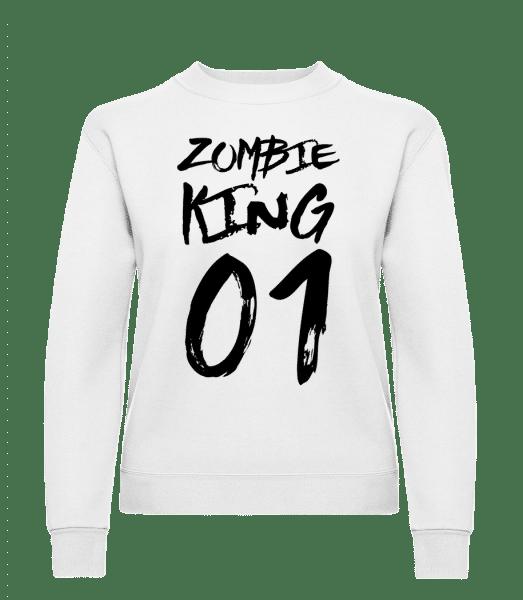 Zombie King - Women's Sweatshirt - White - Vorn