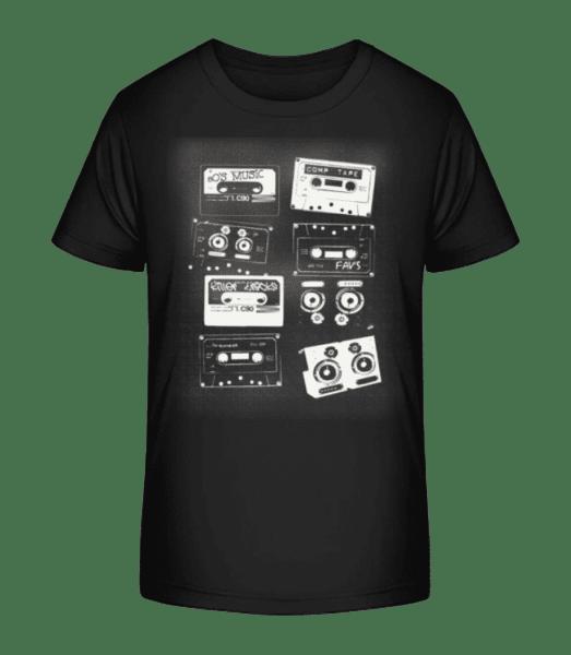 Old Cassettes - Kid's Premium Bio T-Shirt - Black - Vorn
