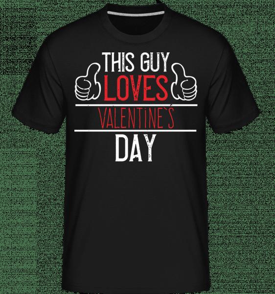 This Guy Loves Valentines Day -  Shirtinator Men's T-Shirt - Black - Vorn
