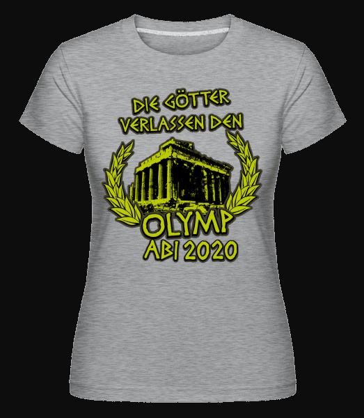 Olymp Abi 2020 - Shirtinator Frauen T-Shirt - Grau meliert - Vorn