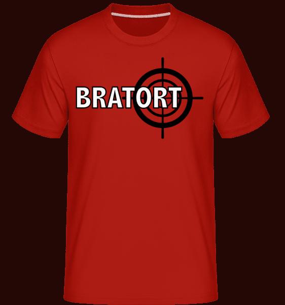 Bratort - Shirtinator Männer T-Shirt - Rot - Vorn