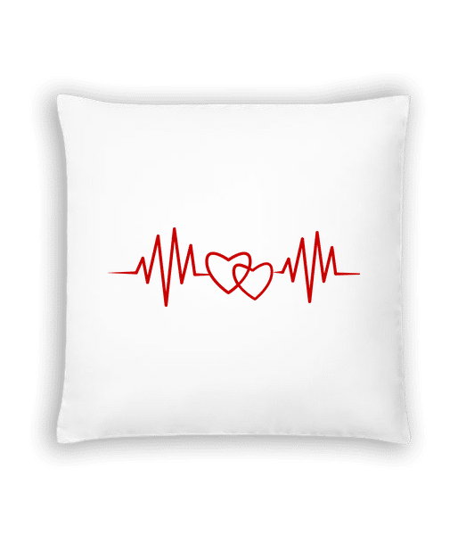 Heart Rate - Cushion - White - Vorn